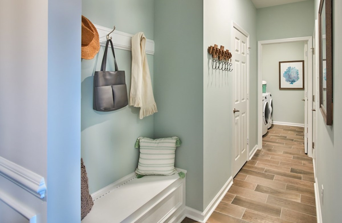 Surfside Plantation Savannah laundry room is spacious with plenty of storage
