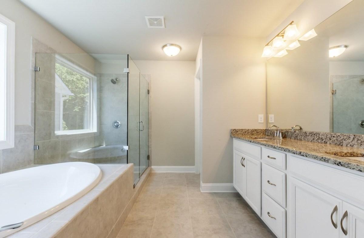 Preston quick move-in Master Bath with dual sinks