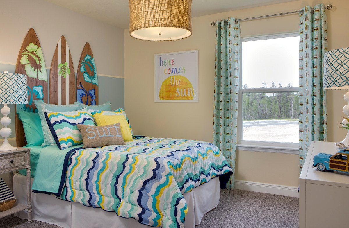 Long Lake Ranch Townhomes Erie Surf themed bedroom