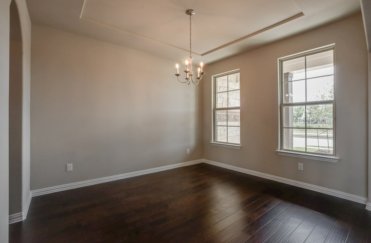 Madison quick move-in formal dining features wood flooing