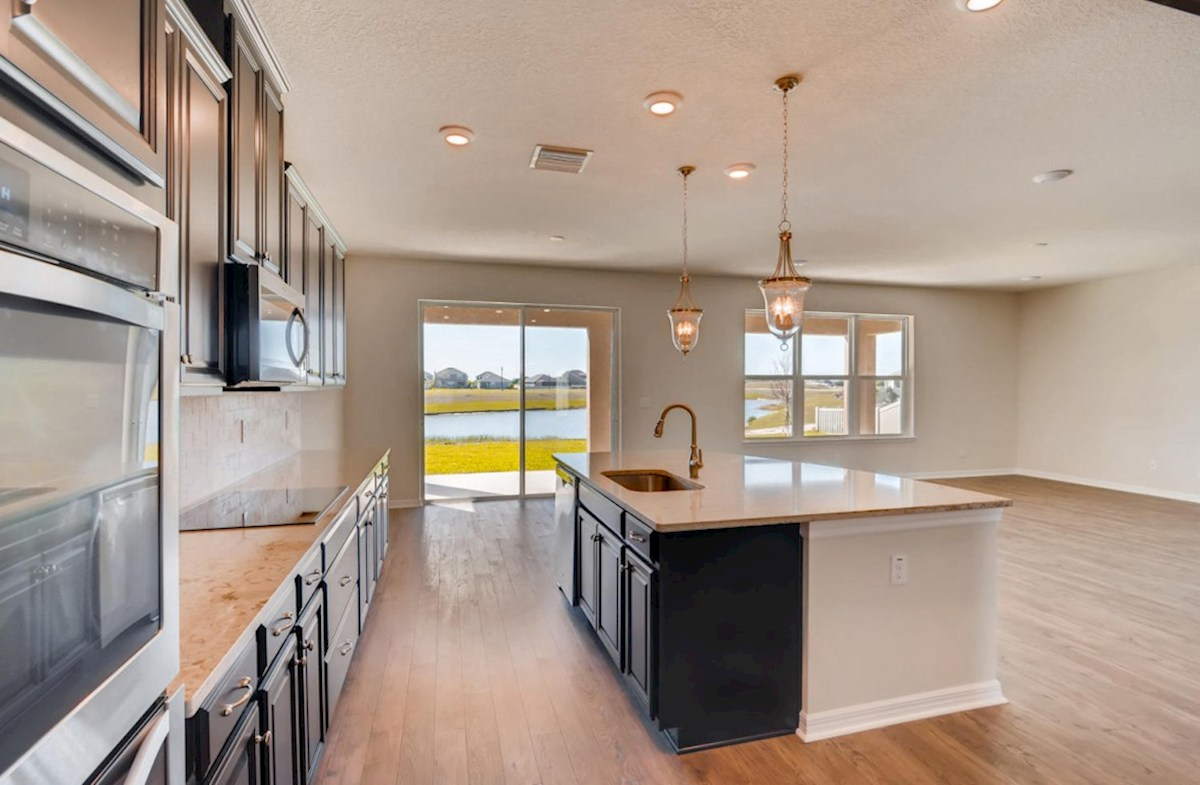 Sequoia quick move-in Gourmet kitchen with double oven and glass cook top