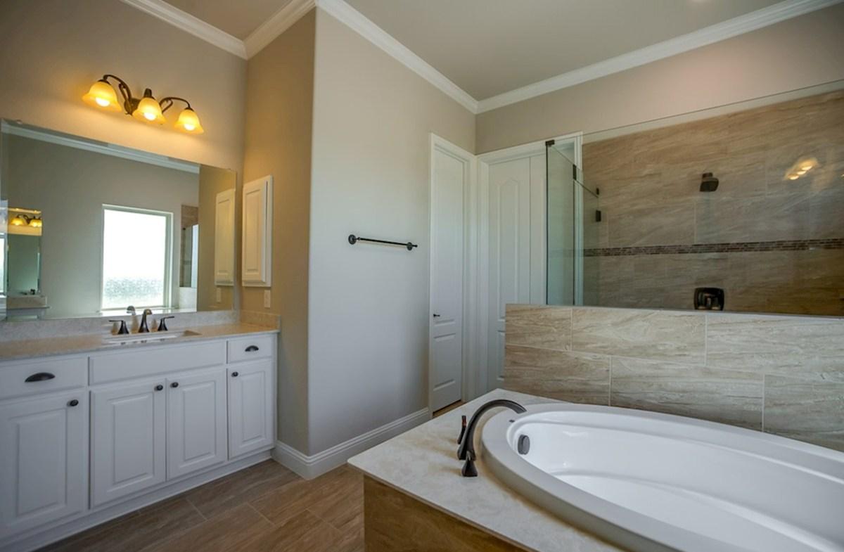 Miramonte Calais Calais master bathroom with double vanities