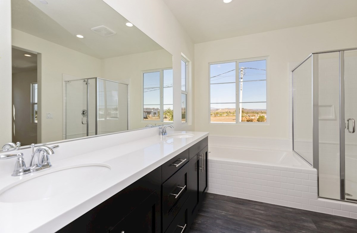 Suncup quick move-in Separate vanities give you more space and privacy.