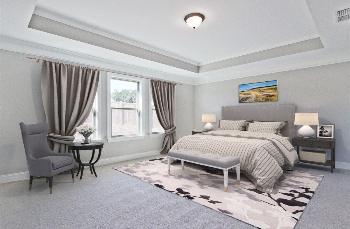 Summit at Towne Lake Manchester Master Bedroom with tray ceilings