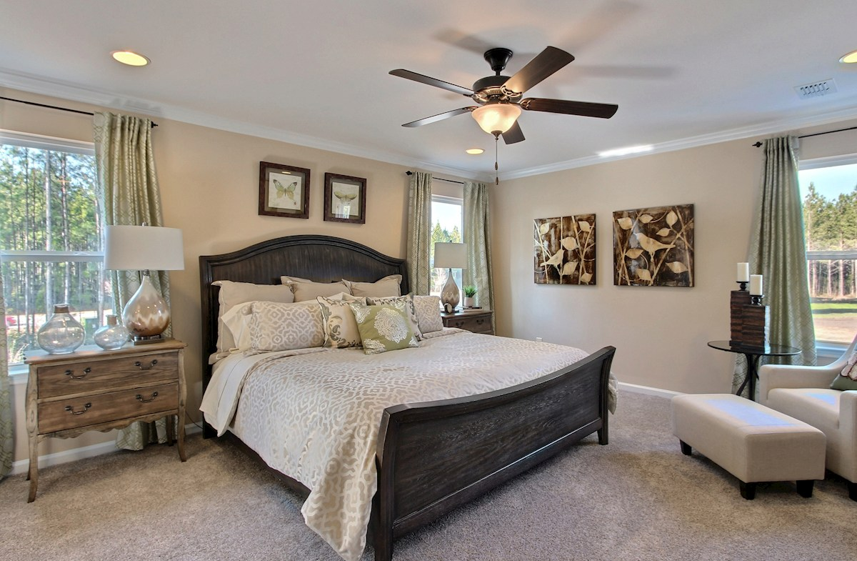 Jasmine Point at Lakes of Cane Bay Cypress private master bedroom