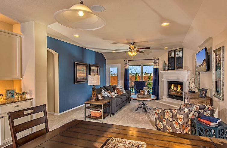 Paloma Creek South Millbrook Millbrook great room with ceiling fan
