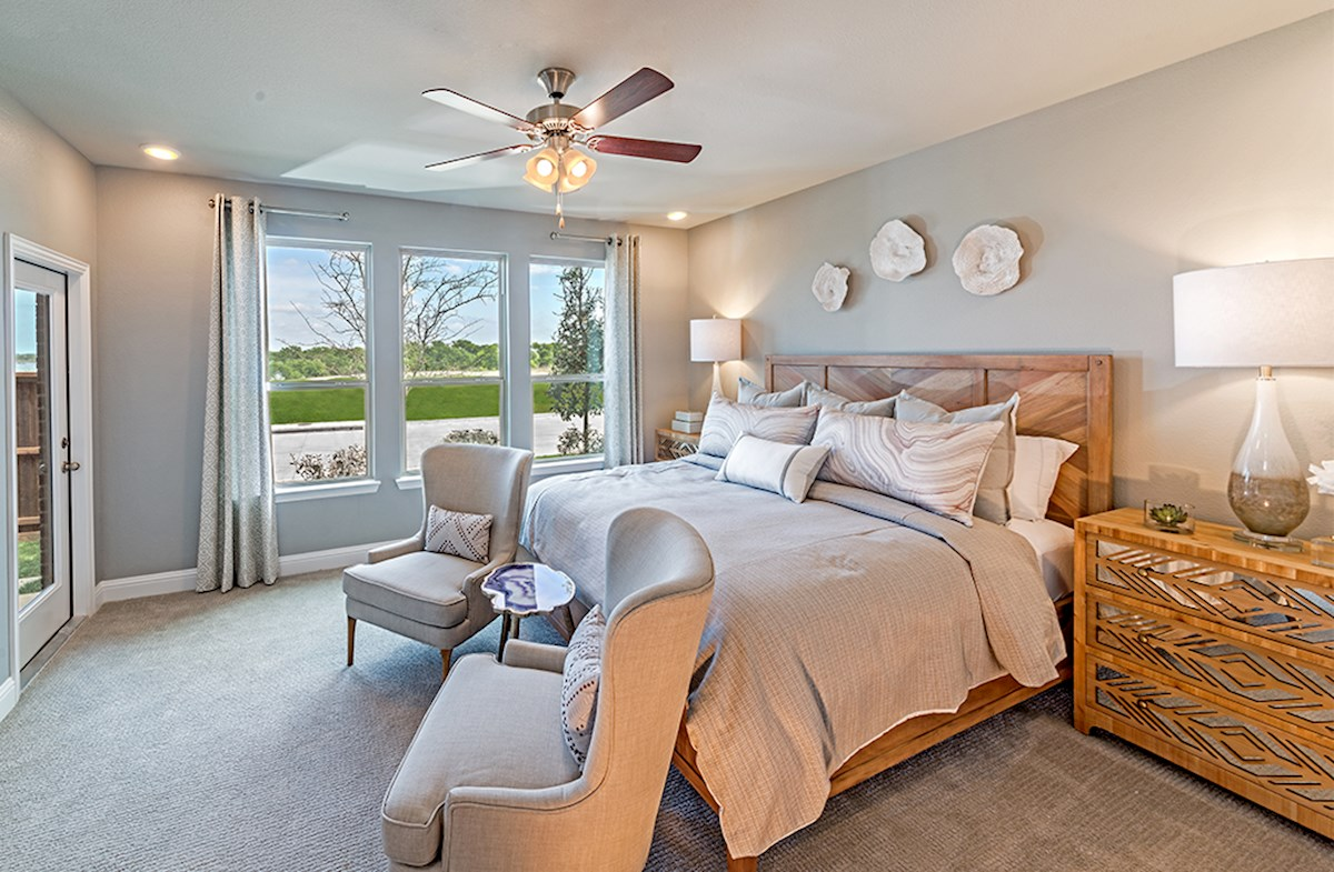 Brazos spacious master bedroom with natural light