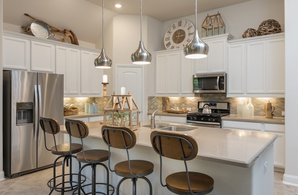 open Madison kitchen with pendant lighting