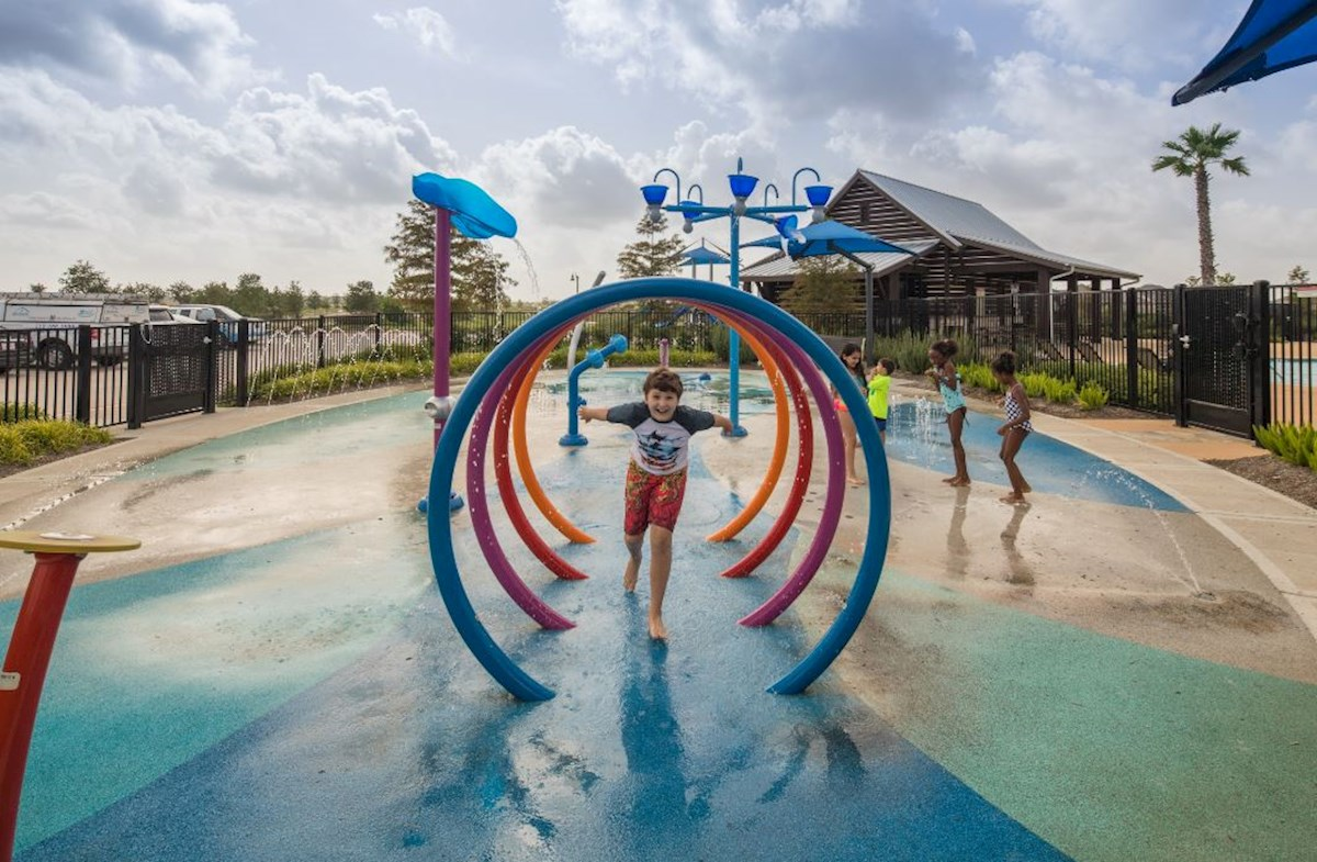 Upscale splash pad boasts fountains and fun