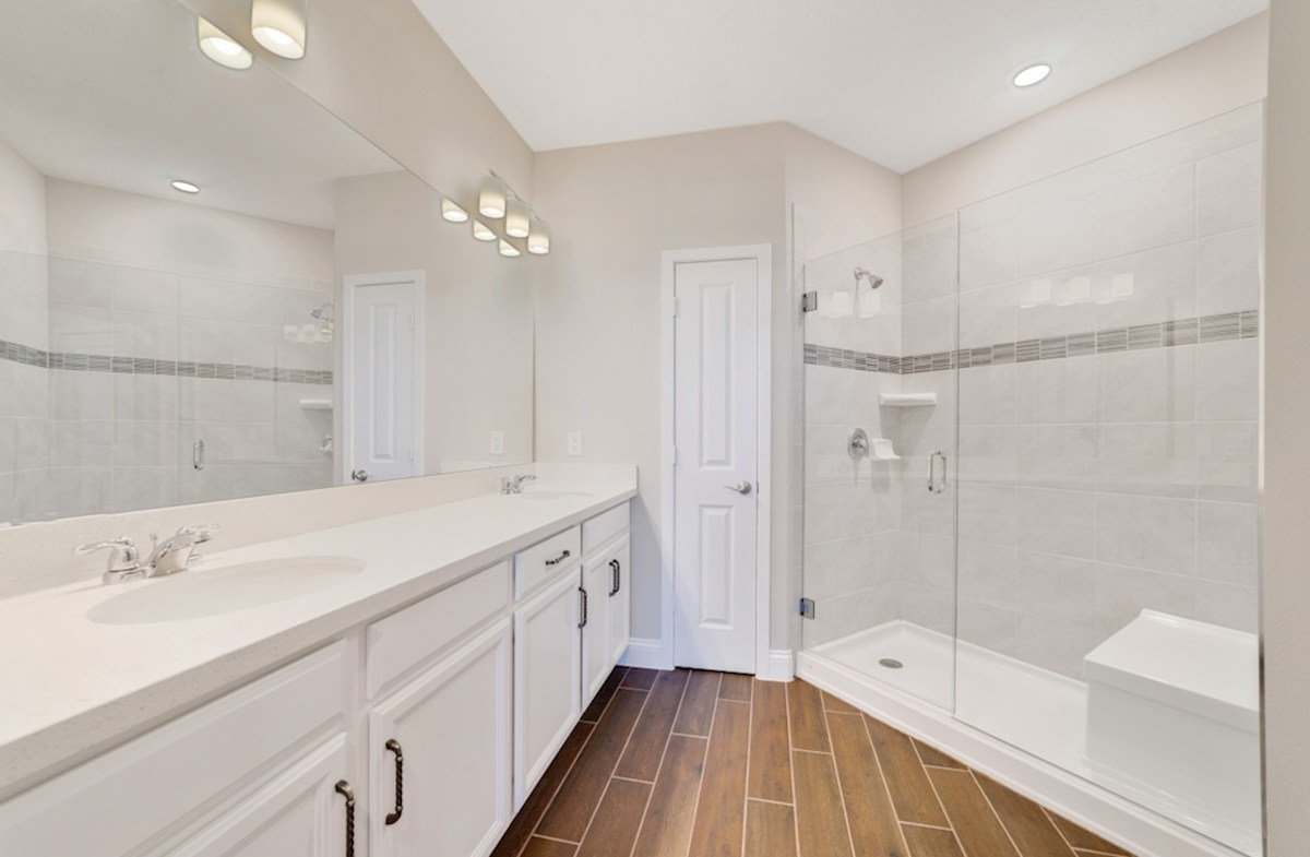 Chestnut quick move-in tranquil master bathroom