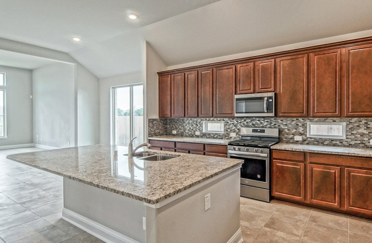 Capri quick move-in spacious granite countertops in granite kitchen
