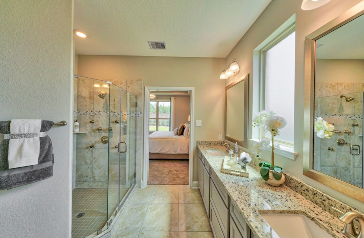 Bridgeland: Parkland Village Armstrong spa-like master bathroom