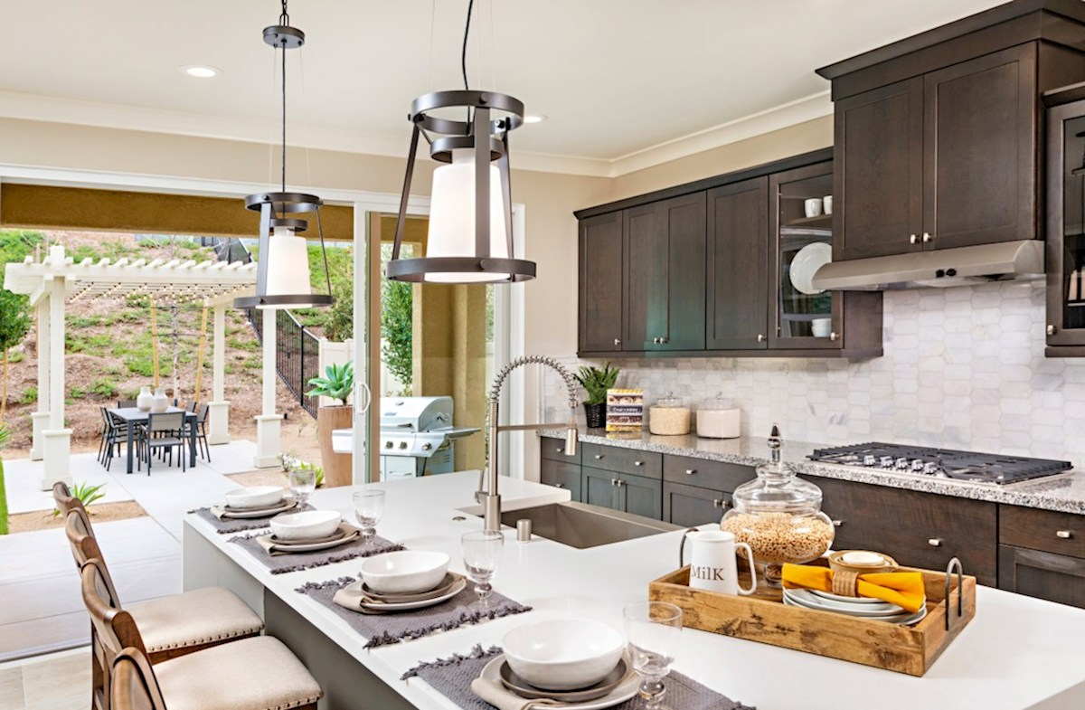Aurora Heights Torrey The kitchen island is the perfect place for serving and lingering over the day's events