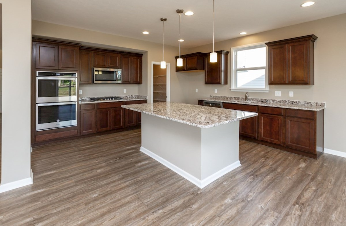 Shelby quick move-in Open concept kitchen with large island