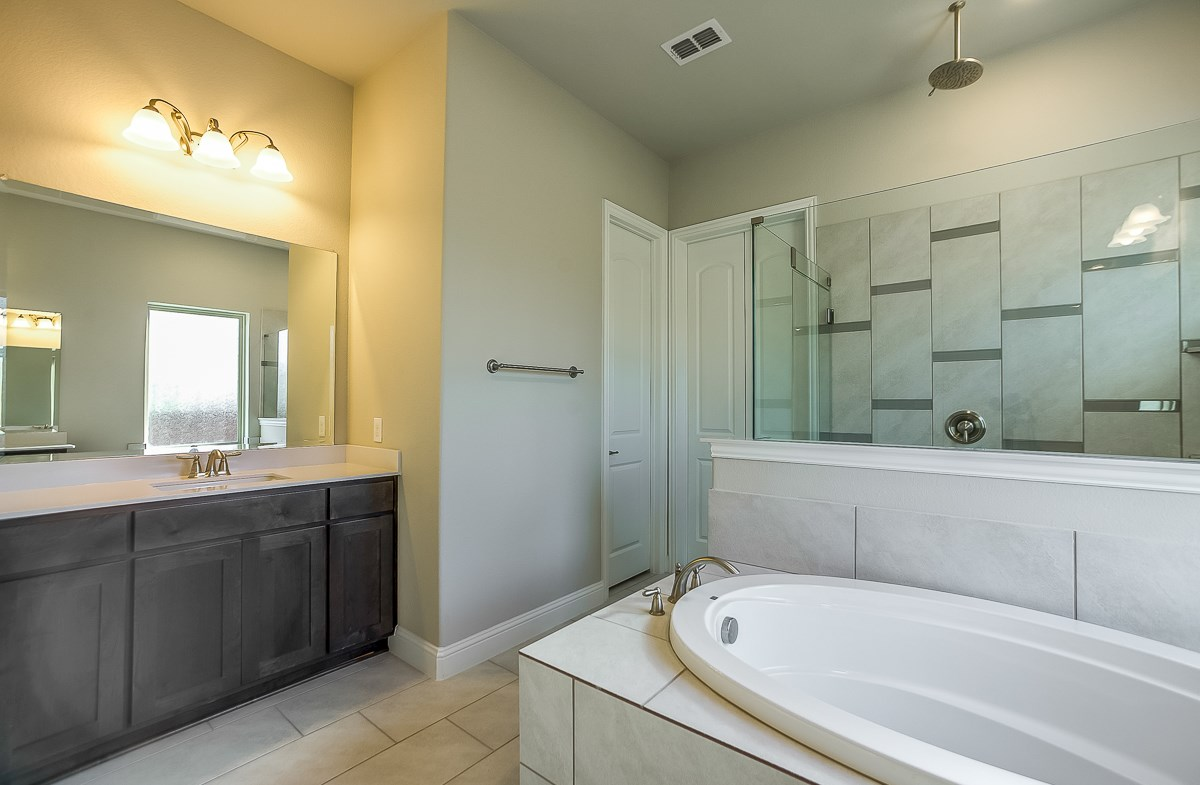 Calais quick move-in large tub and shower in master bath