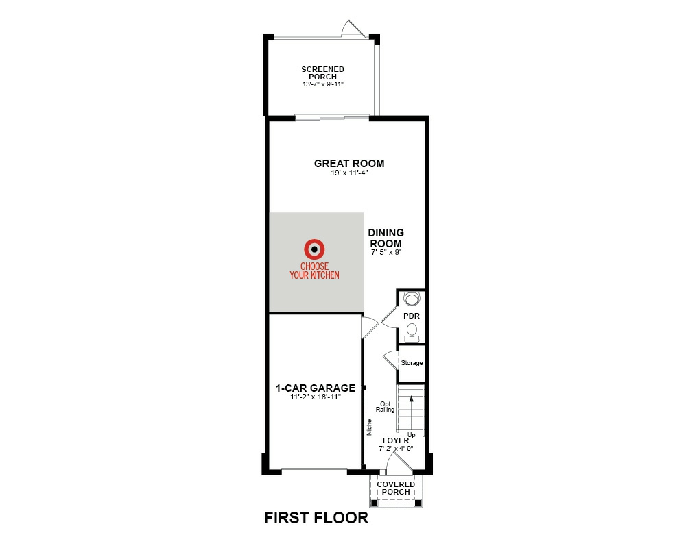 Main floor plan for First Floor