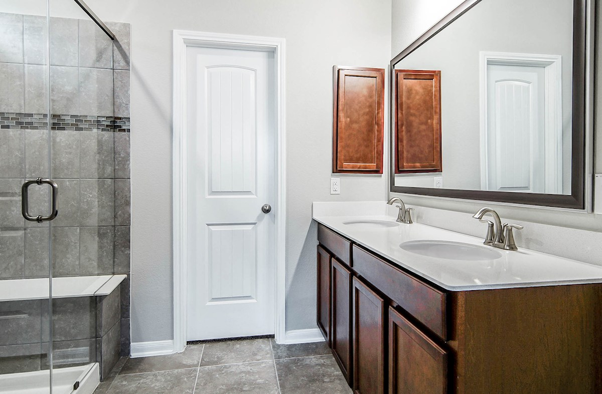 Julian quick move-in master bathroom with large shower