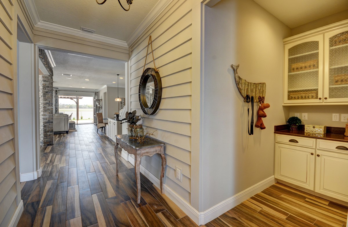 The Reserve at Pradera Redwood Open foyer with wood-look tile