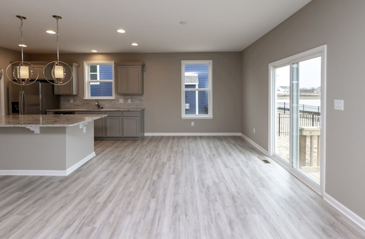 Shelby quick move-in breakfast area with hardwood floors