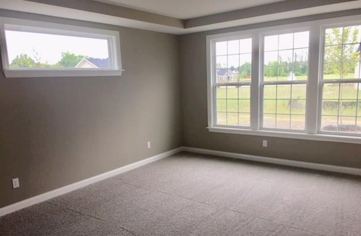 Windsor quick move-in Master bedroom with extra windows for natural light