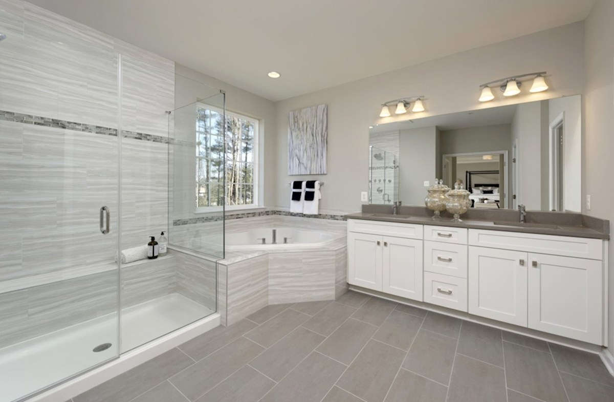 Old Court Crossing Lexington Spa-inspired Lexington master bath