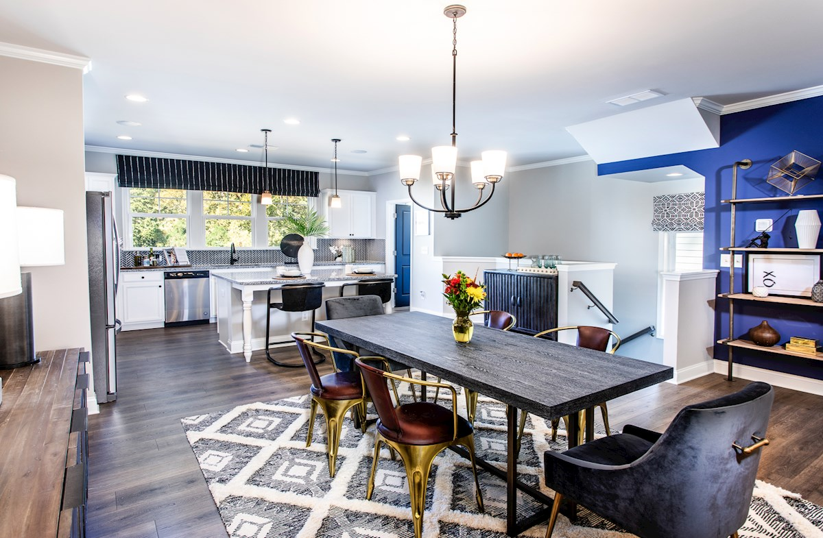 Dining Room with light fixture