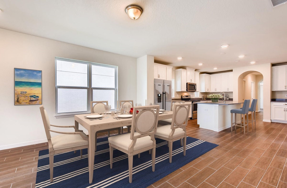 Redington quick move-in Open kitchen with a large island