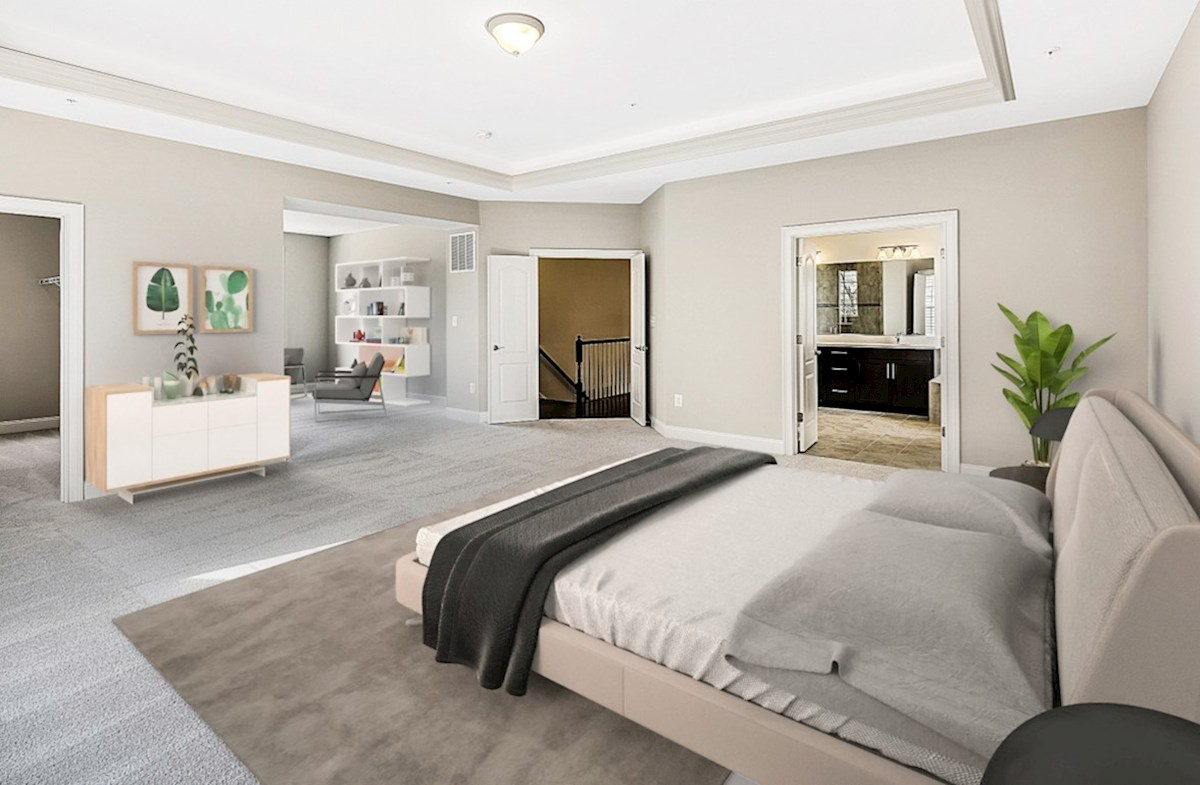 Enclave at River Hill Kingston Spacious master suite in the Kingston featuring carpet