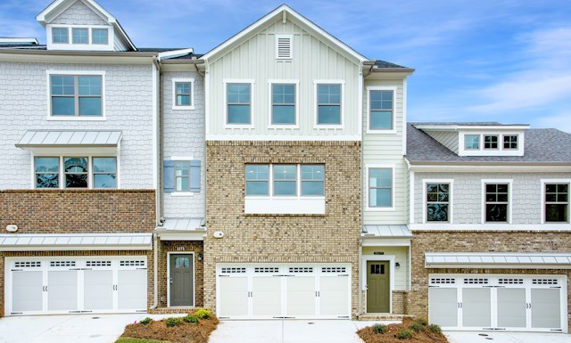 Three-story townhome with 2-car garage