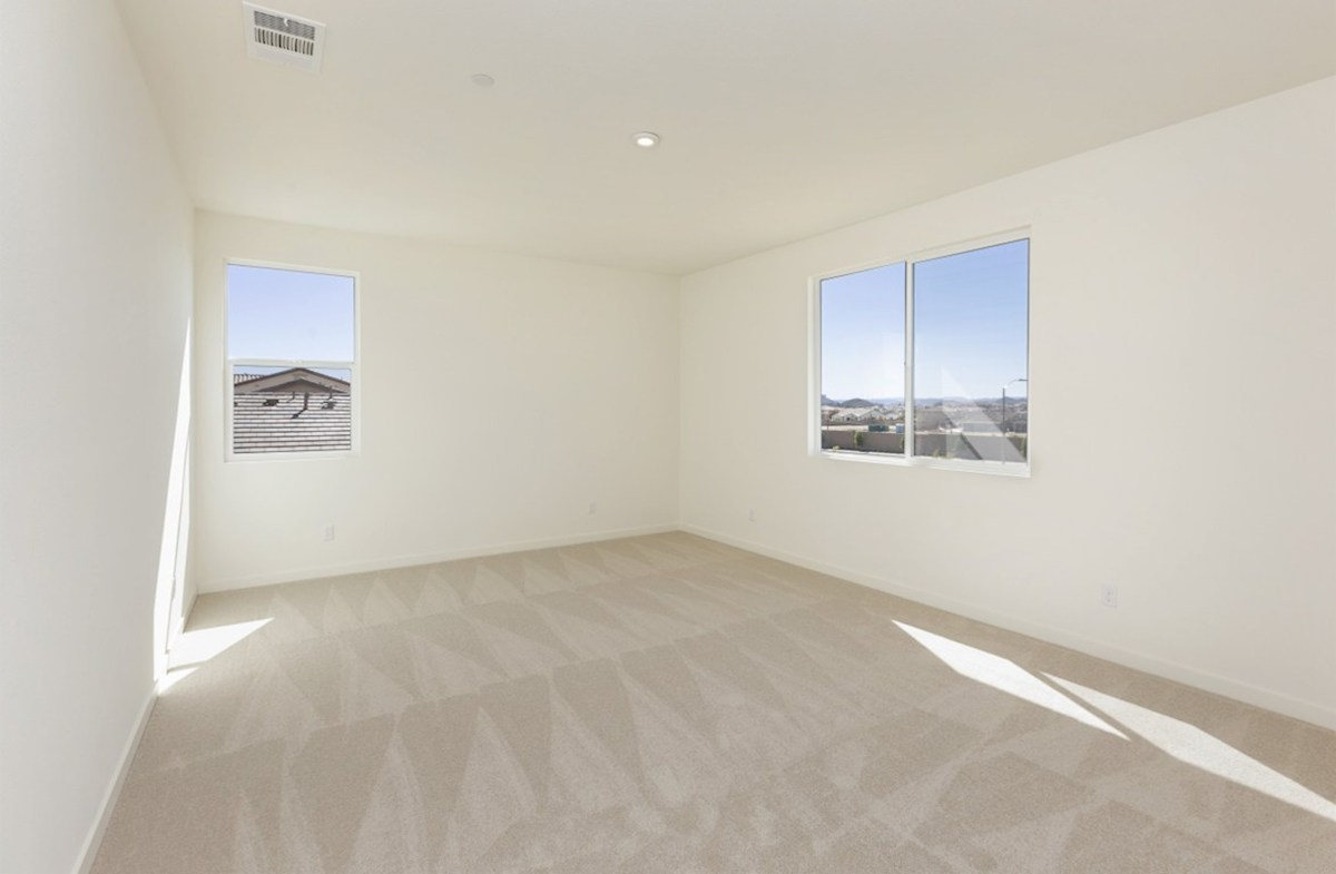 Reserve quick move-in Master bedroom located in the back of home for best exterior views and natural light