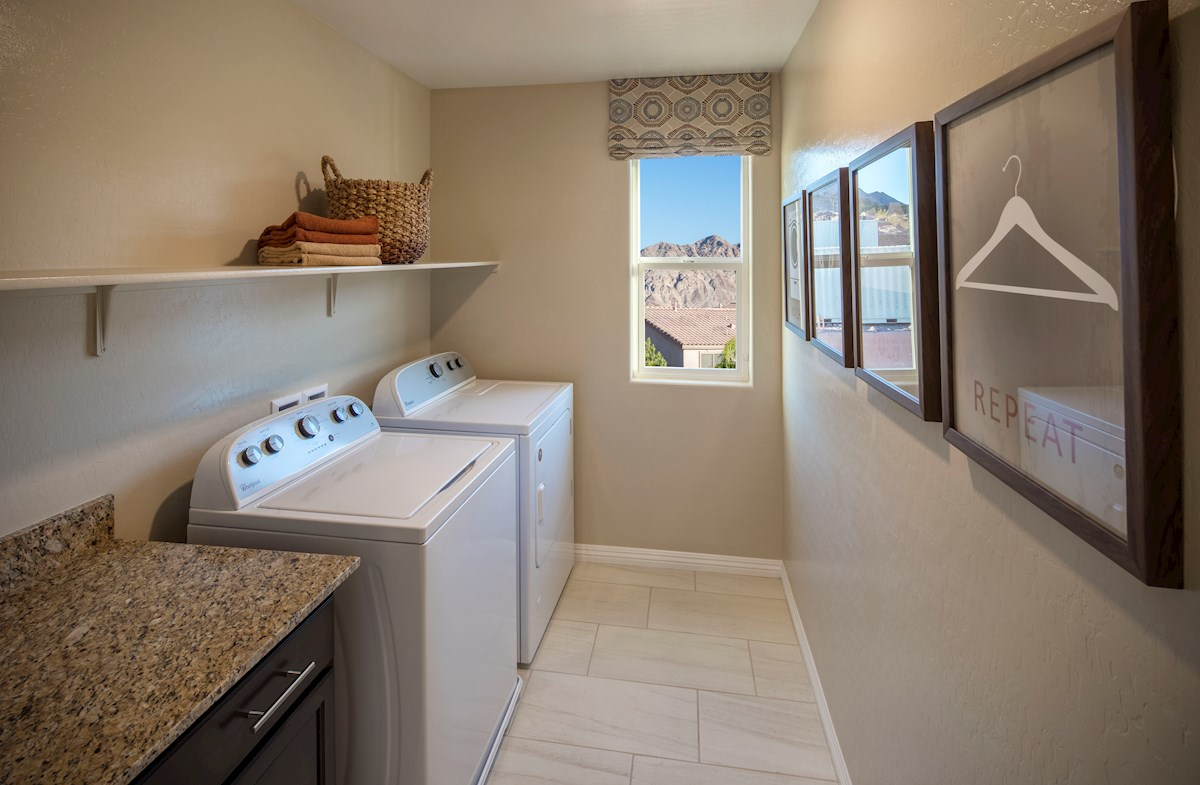 laundry room in the Orion model
