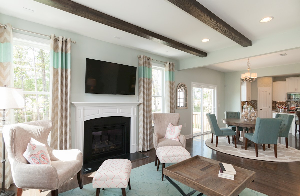 welcoming family room