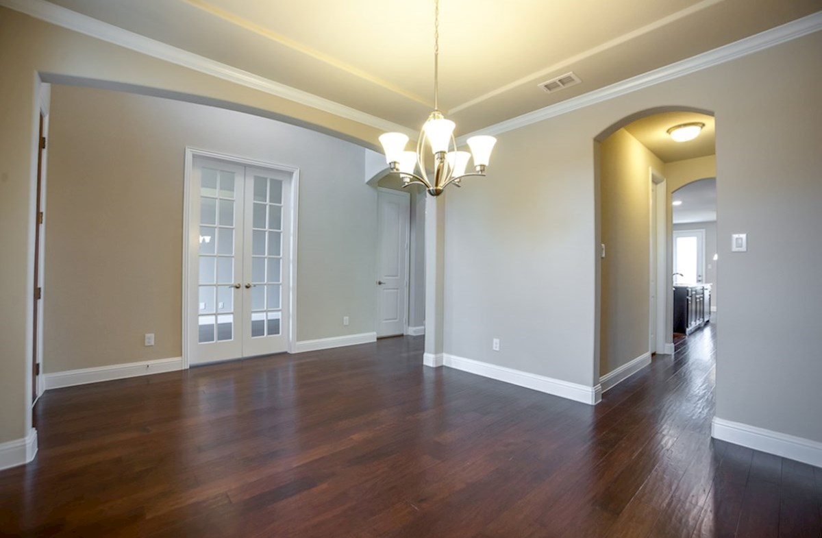 Madison quick move-in wood flooring in formal dining room