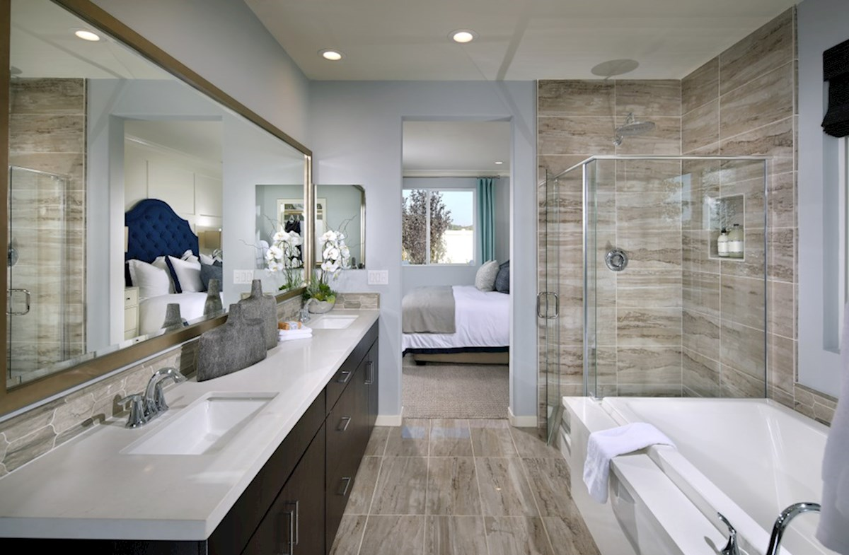 Provence at Heritage Ranch Napa Deluxe master bath with separate shower and soaking tub