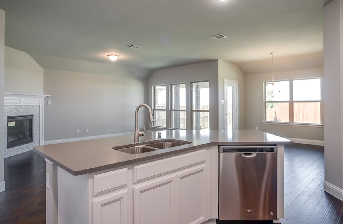 Baxter quick move-in kitchen island overs looks great room