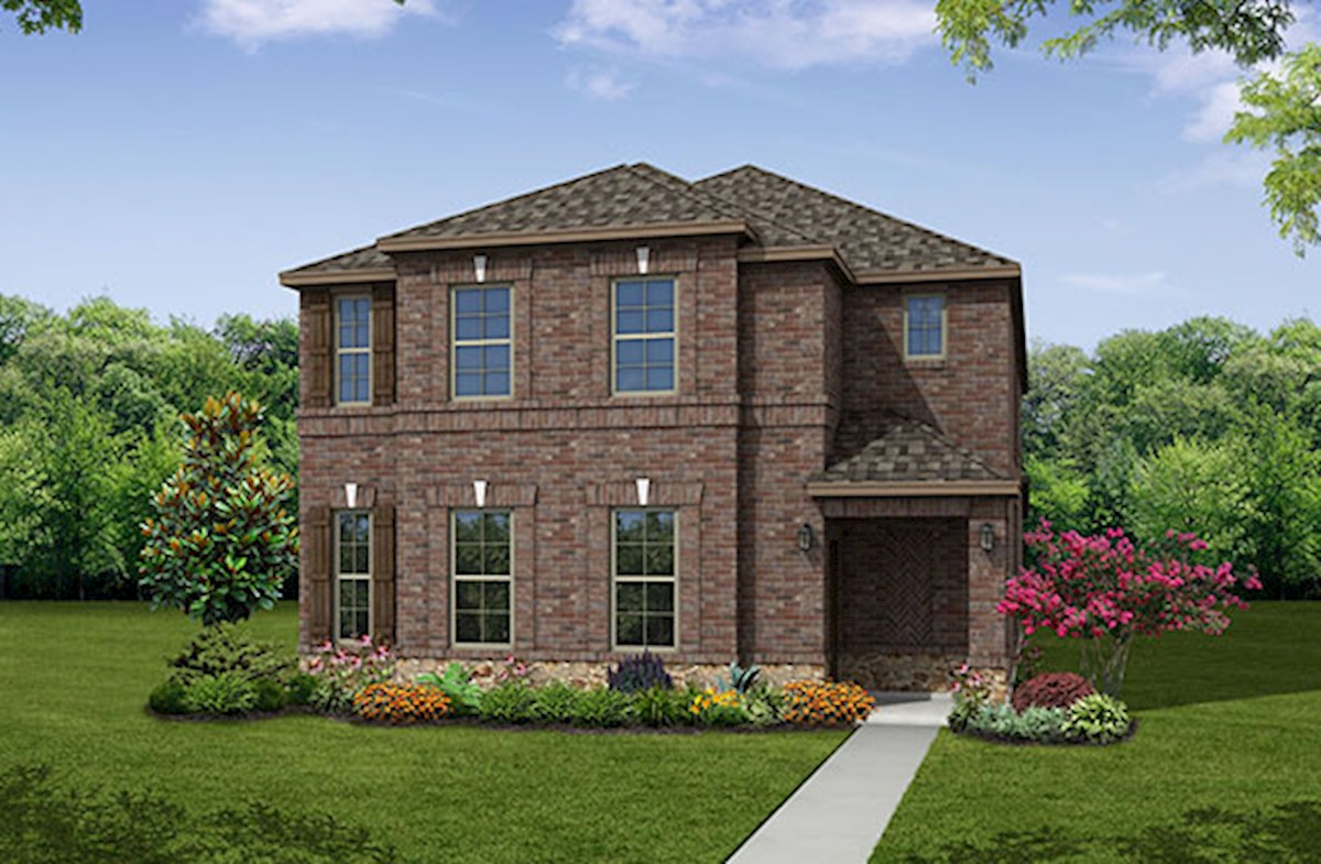 Fairfield home plan in valencia on the lake little elm for Valencia home