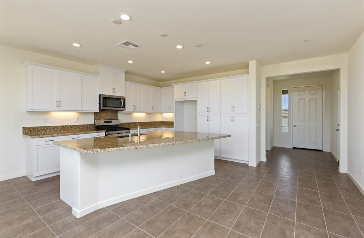 Reserve quick move-in The kitchen island is the perfect place for serving and lingering over the day's events
