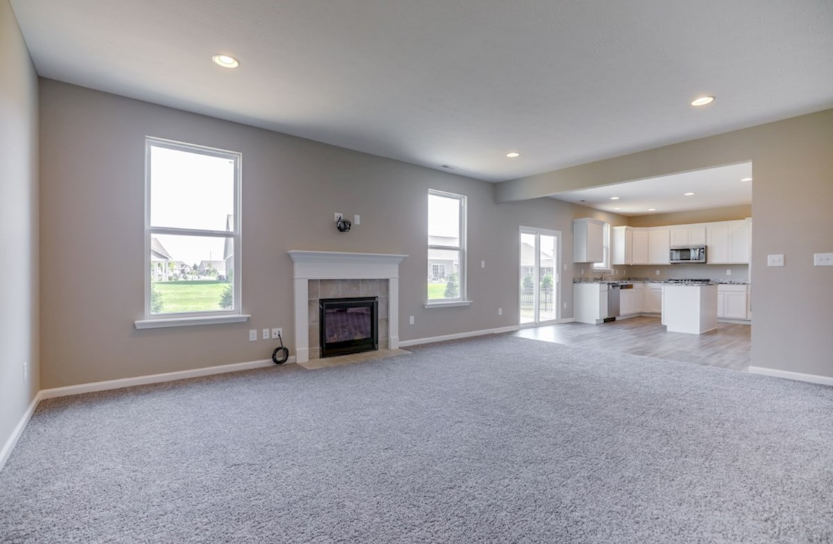 Juniper quick move-in great room with fireplace