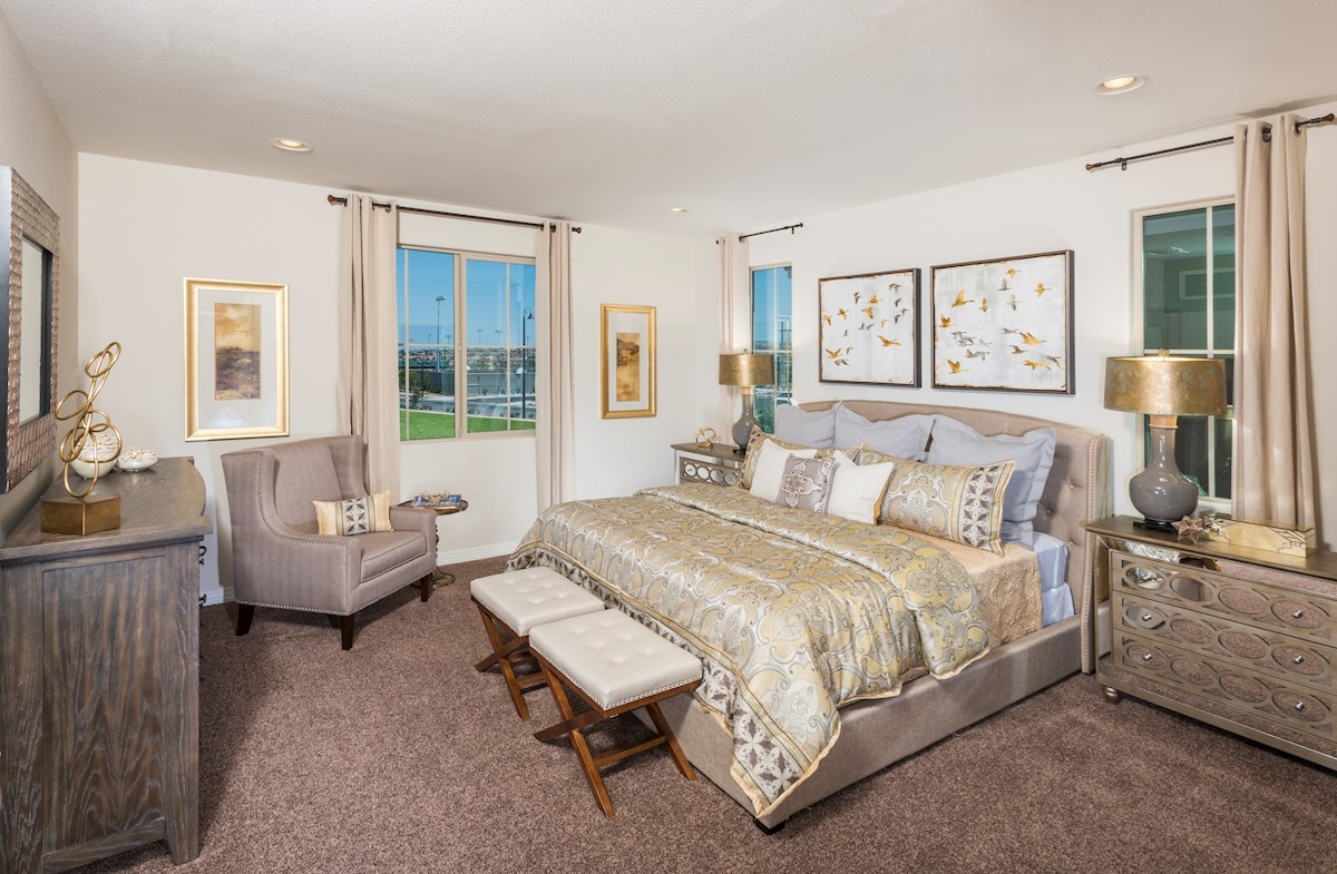 Reliance Collection at Inspirada Bayview relaxing master suite