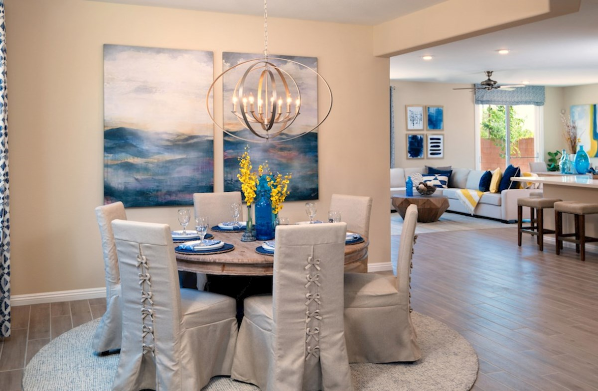 Dorrell Estates Sienna Sienna dining has access to the great room
