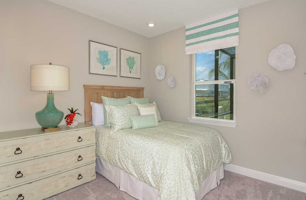 Reserve at Citrus Park Lucia Bay Furnished bedroom with large window