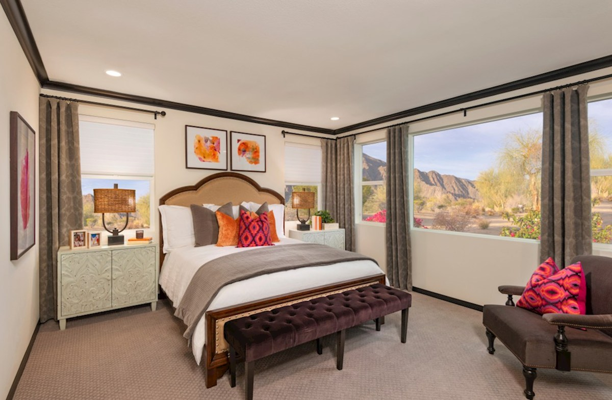 Floresta Anza Master bedroom located in the back of home for best exterior views and natural light