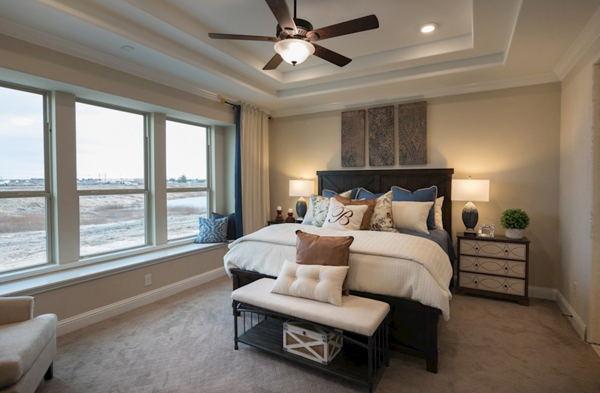 Wildwood at Oakcrest Fredericksburg master bedroom with tray ceilings