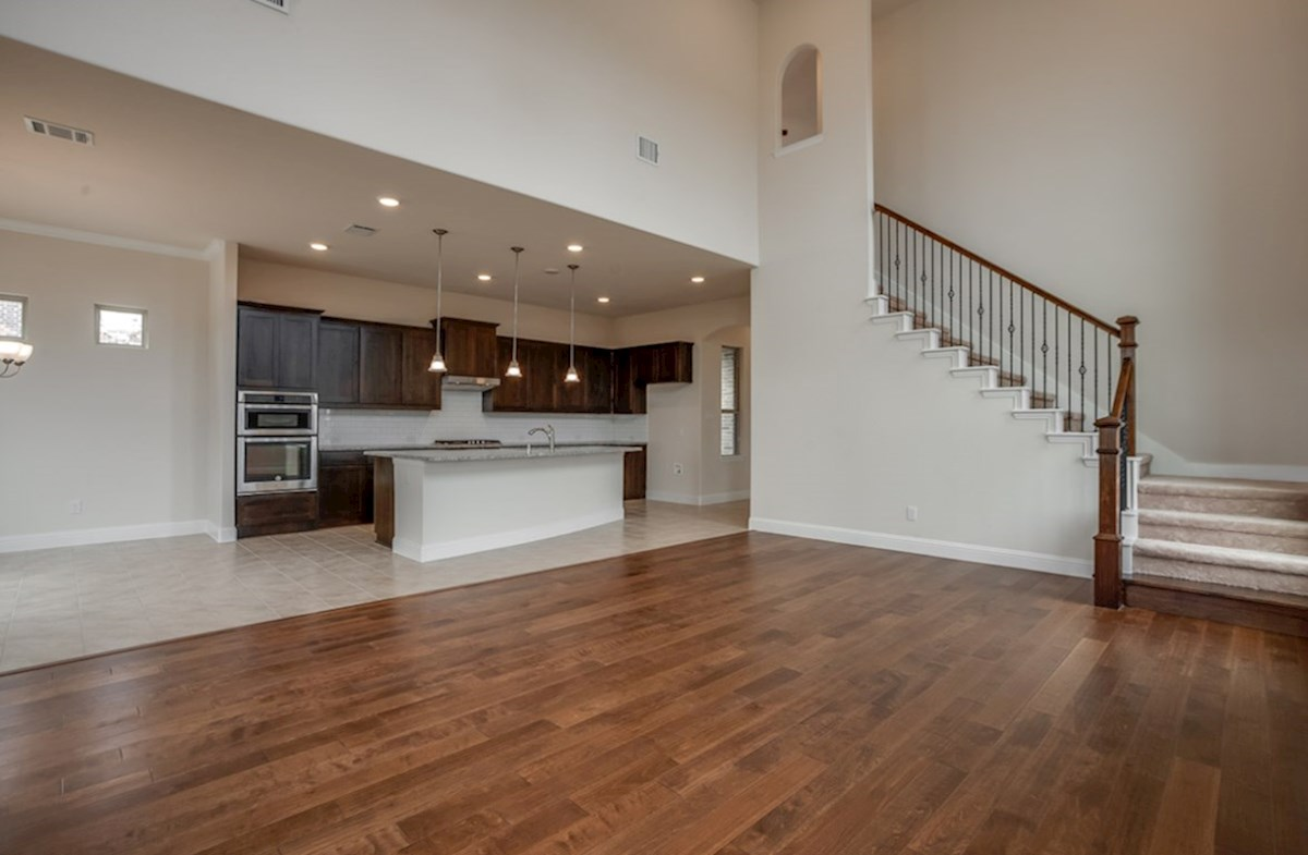 Brazos quick move-in large great room connected to kitchen