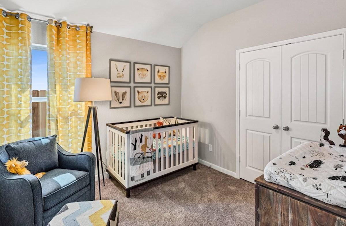 Lantana Austin secondary bedroom with carpet flooring