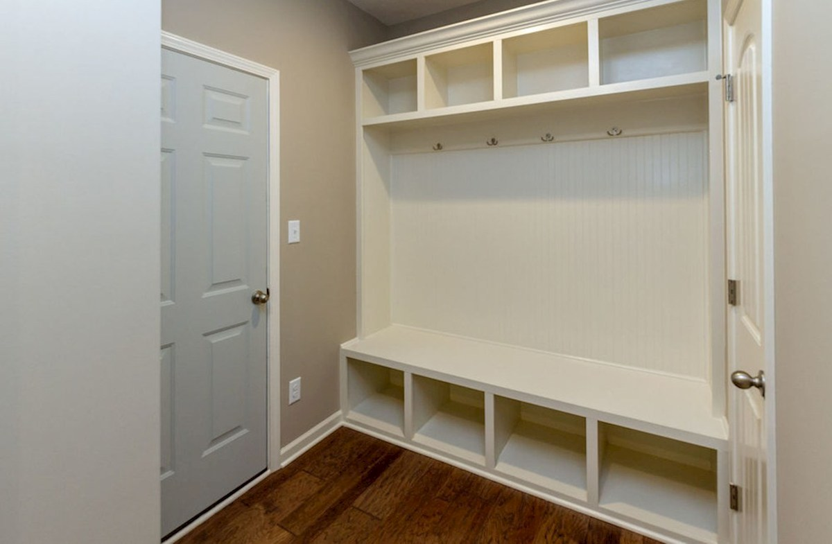 Summerland Park Morgan mud room with bench and coat rack
