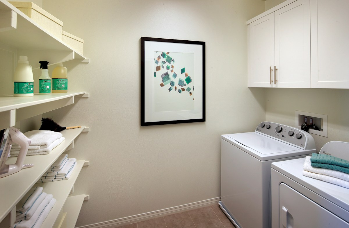 Bayside Landing Anchor Anchor storage space in laundry room