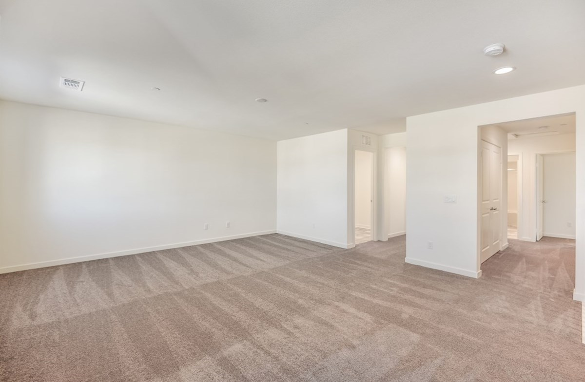 Starflower quick move-in Master bedroom separated from secondary bedrooms to create privacy and reduce noise