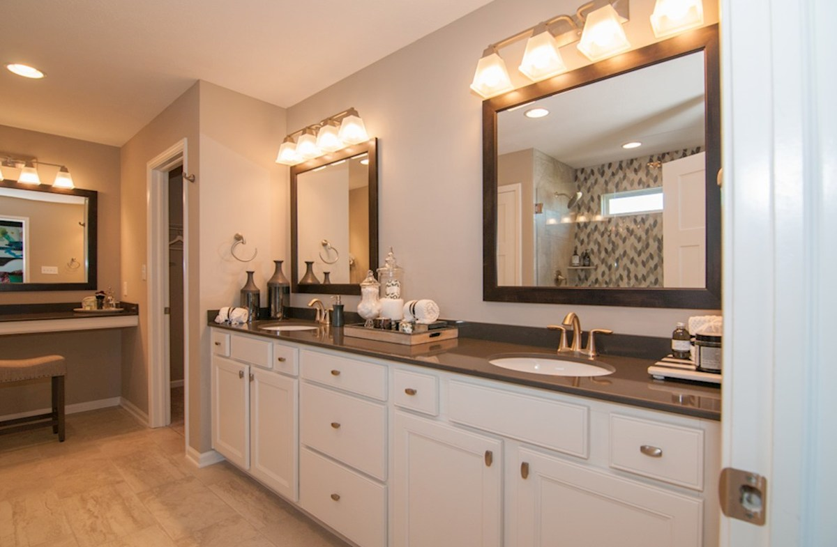 Summerland Park Porter master bath with double sinks