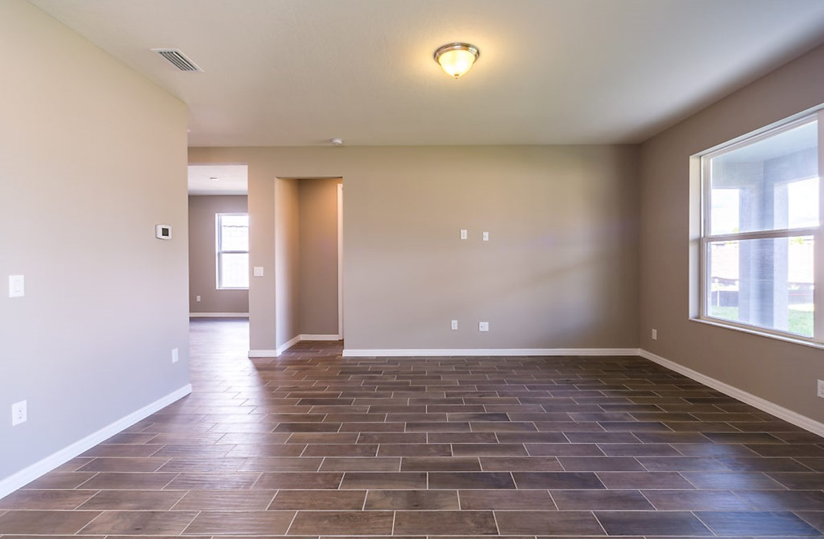 Captiva quick move-in Great room featuring wood-look tile